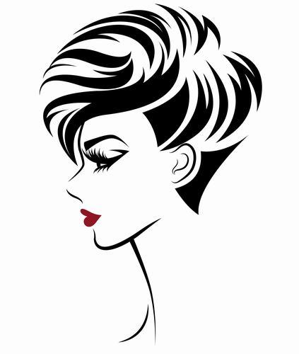 Short hair girl vector