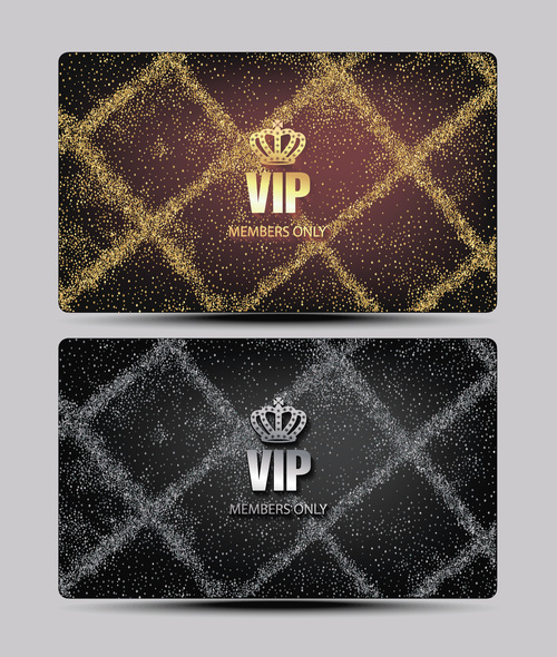 Silver and gold luxury VIP card vector