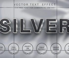 Silver vector text effect