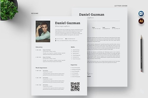 Simple and clean resume vector
