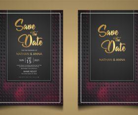 Simple and elegant wedding invitation vector card
