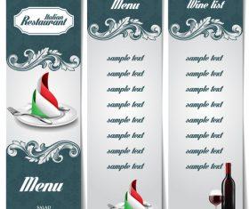 Simple and practical restaurant menu vector
