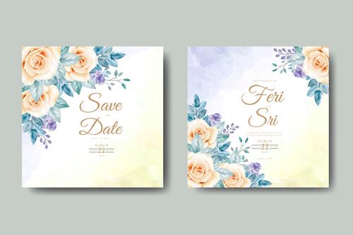 Simple beautiful wedding card vector