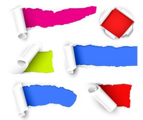 Simple torn paper background vector