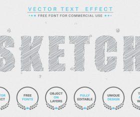 Sketch vector text effect