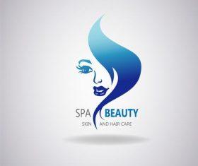 Skin and hair care logo vector