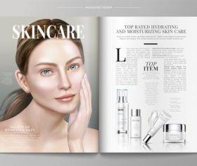 Skin care magazine vector