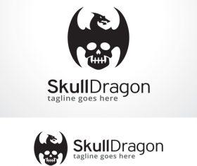 Skull Dragon logo vector