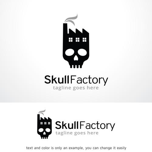 Skull Factory logo vector