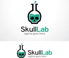 Skull Lab logo vector
