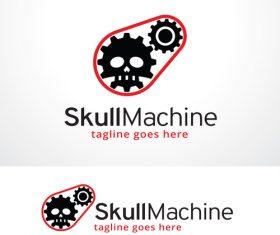 Skull Machine logo vector