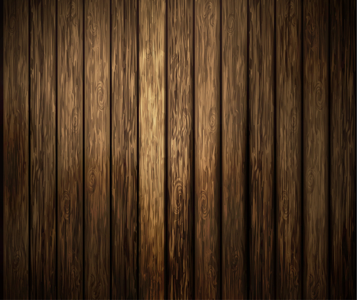 Solid wood plank background vector