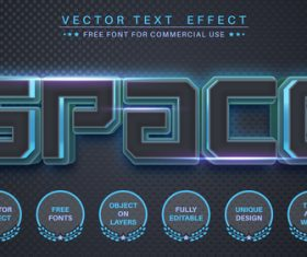 Space vector text effect