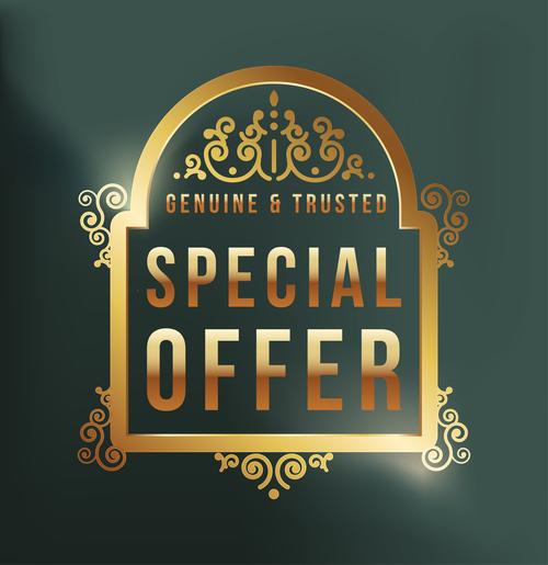 Special offer label design vector