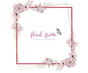 Square frame hand drawn vector