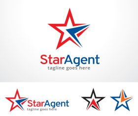 Star Agent logo vector