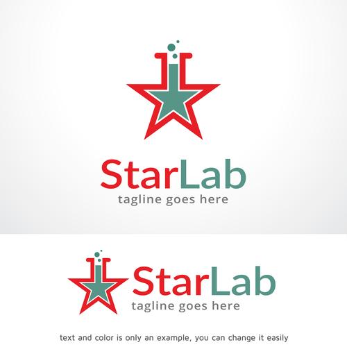 Star Lab logo vector