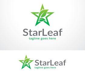 Star Leaf logo vector