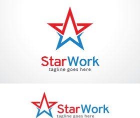 Star Work logo vector