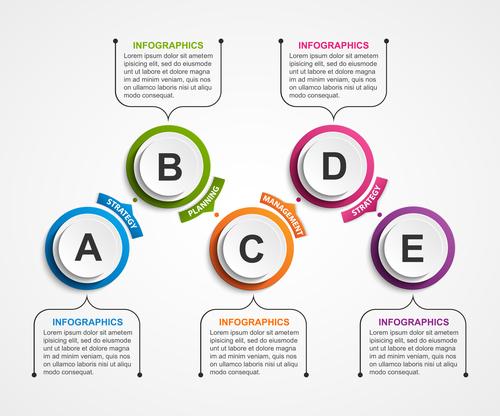 Sticker creative information vector