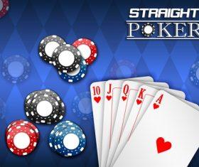 Straight poker vector