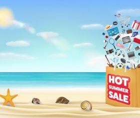 Summer goods promotion vector