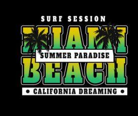 Summer paradise vector