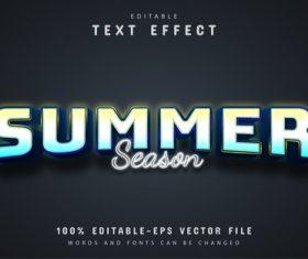 Summer season style text effect vector