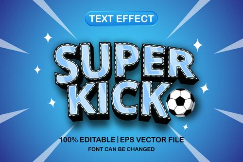 Super kick text font style vector