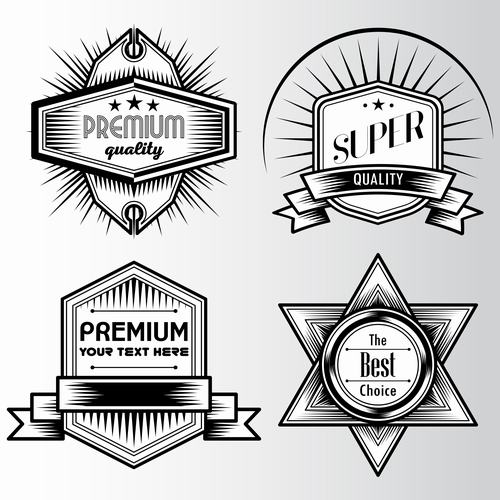 Super quality commercial label vector