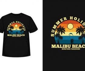 Surf women silhouette t shirt design vector