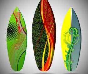 Surfboard doodle vector