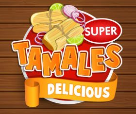 Tanales food stickers vector