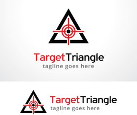Target Triangle logo vector