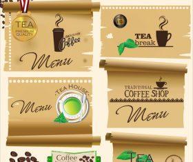 Tea break flyer vector