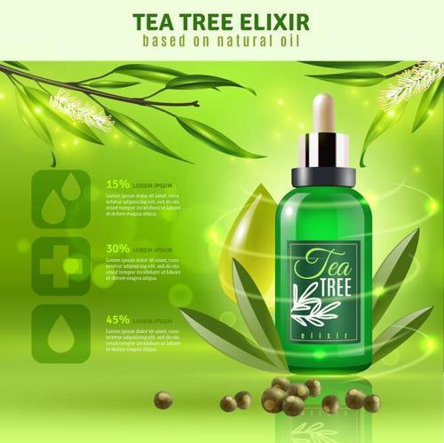 Tea tree elixir illustration vector