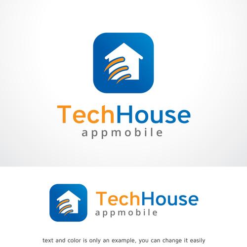 Tech House logo vector
