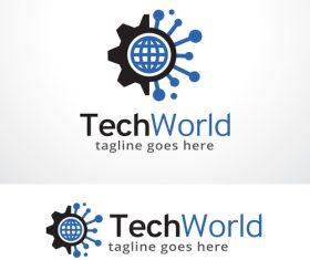 Tech World logo vector