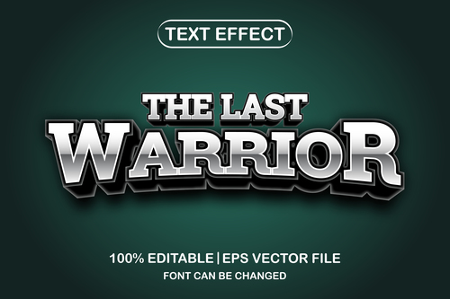 The last warrior text font style vector