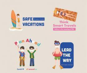 Think smart travels illustration vector