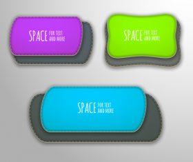 Three color text design vector