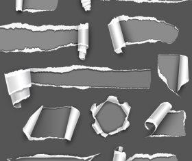 Torn paper vector on dark background