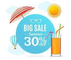 Travel offer sale flyer vector