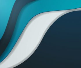 Tricolor wave background vector