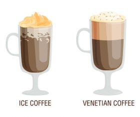 Two flavors coffee vector