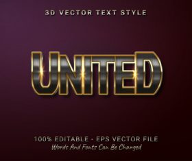 UNITED text font style vector