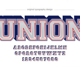 Union typography graphic style vector text effect