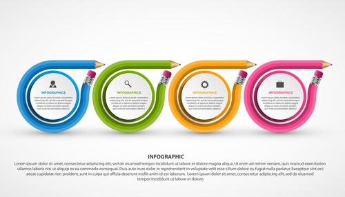 Unique creative information vector