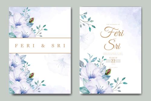 Unique wedding card vector