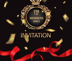 VIP members only invitation vector